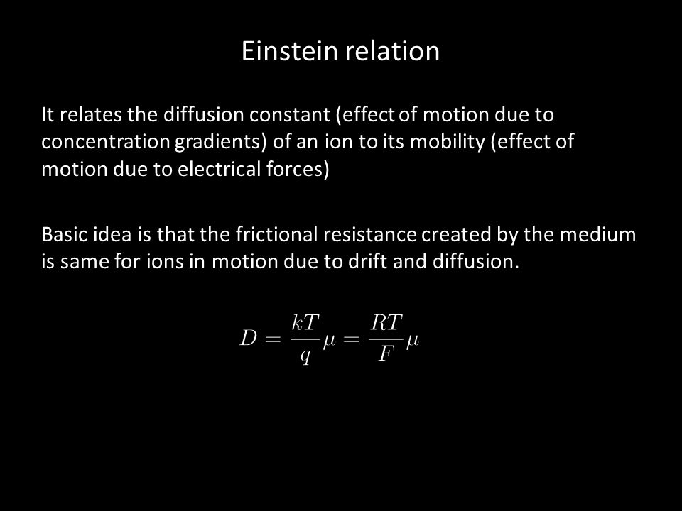 Einstein relation