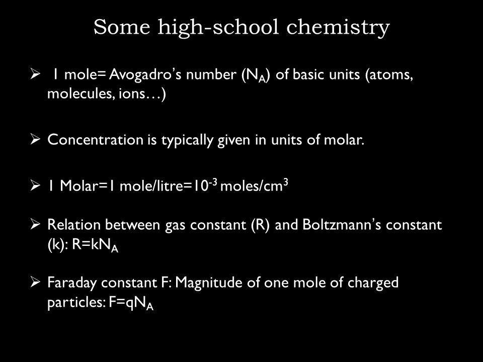 Some high-school chemistry