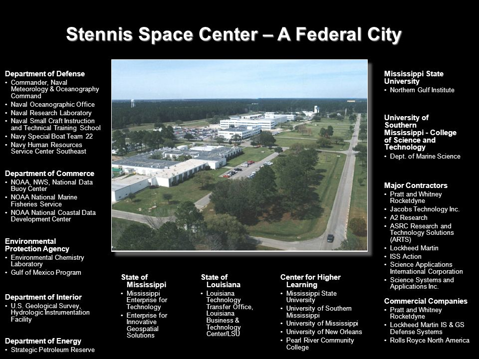 Stennis Space Center – A Federal City