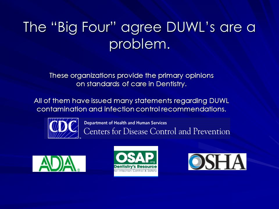 The Big Four agree DUWL's are a problem.