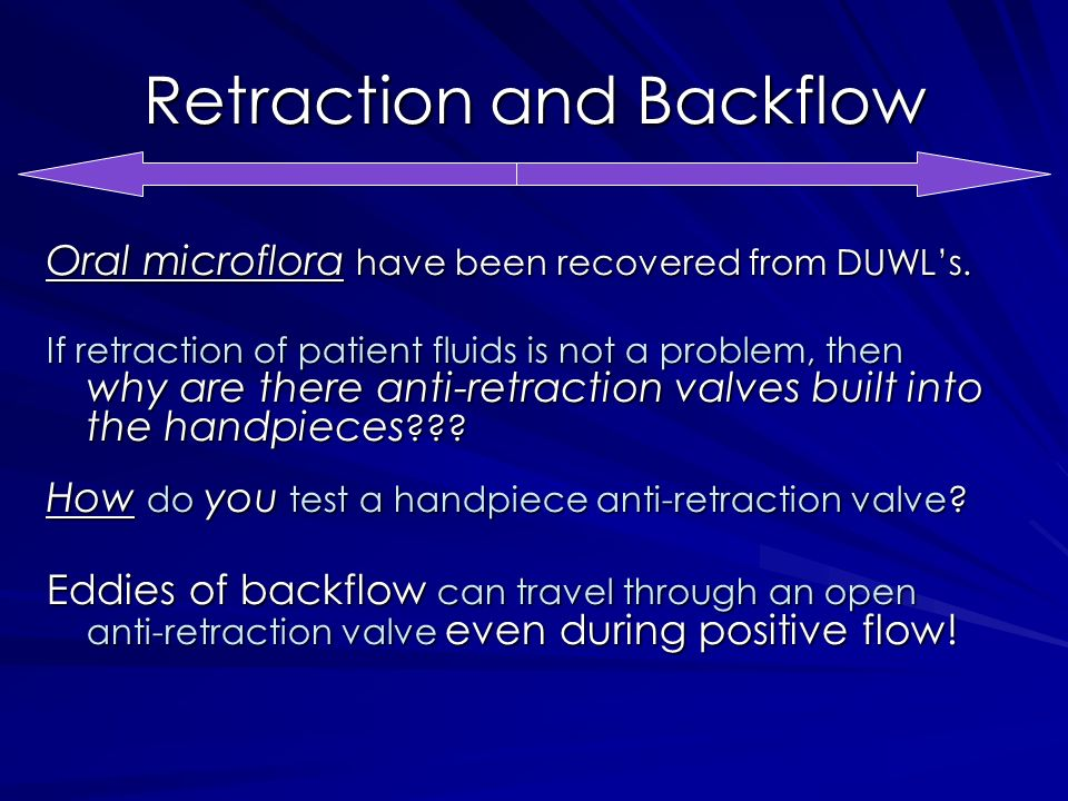 Retraction and Backflow