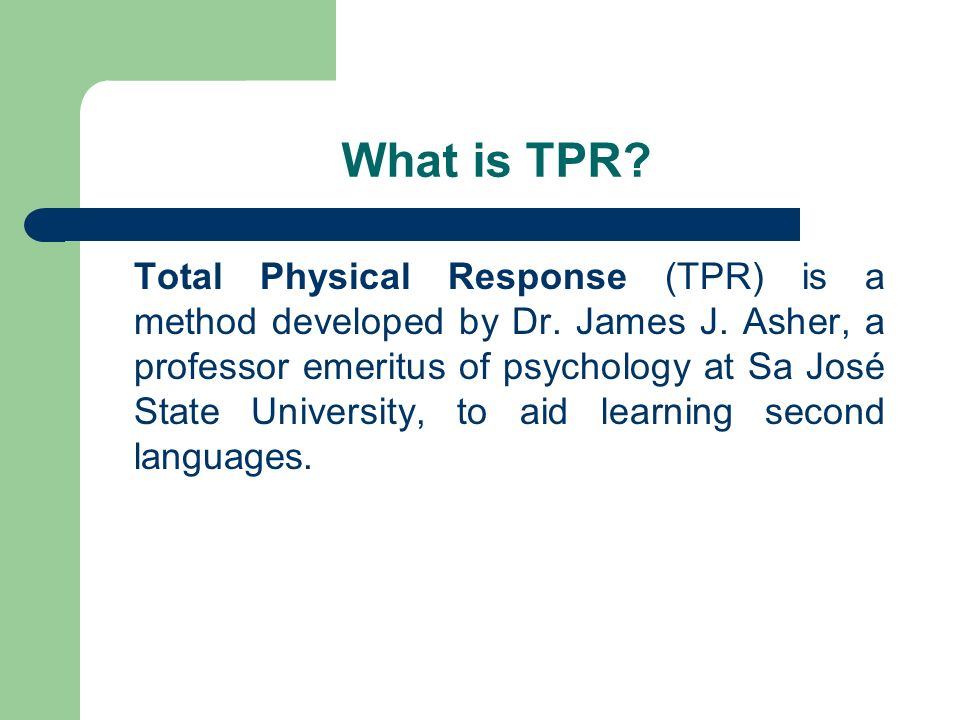 What is TPR
