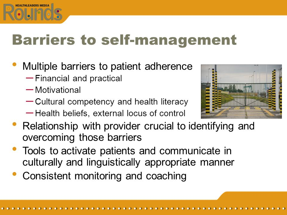 Barriers to self-management