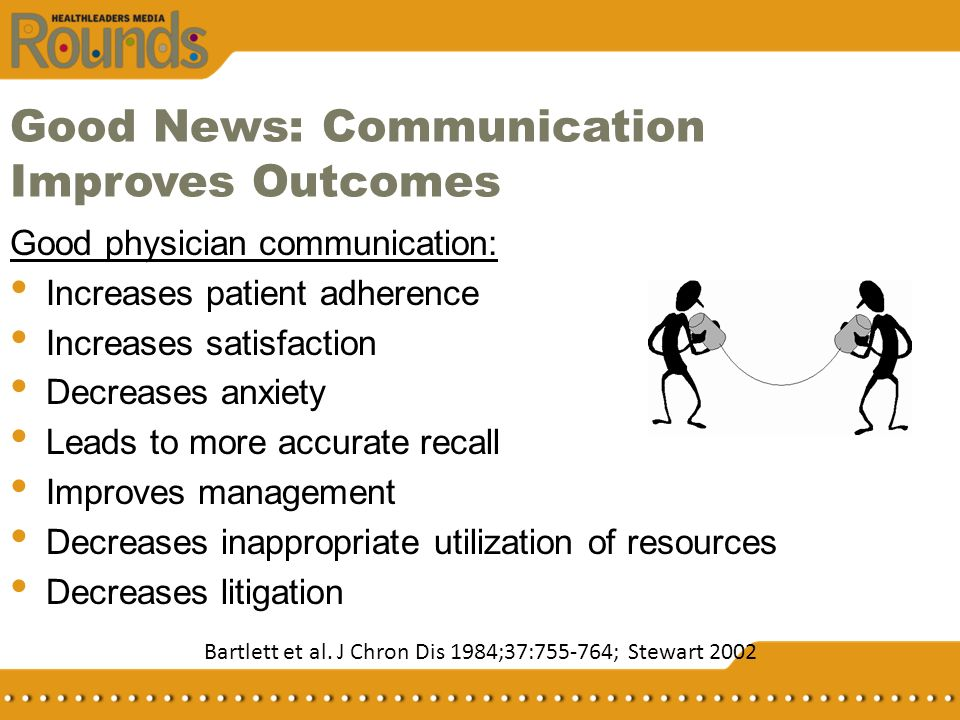 Good News: Communication Improves Outcomes