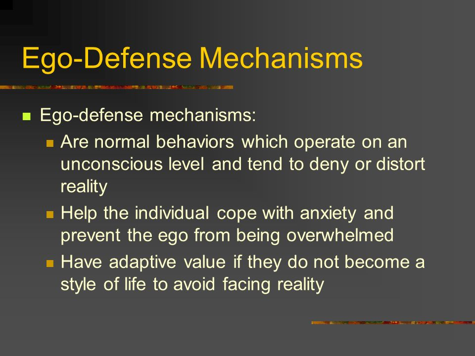 Ego-Defense Mechanisms