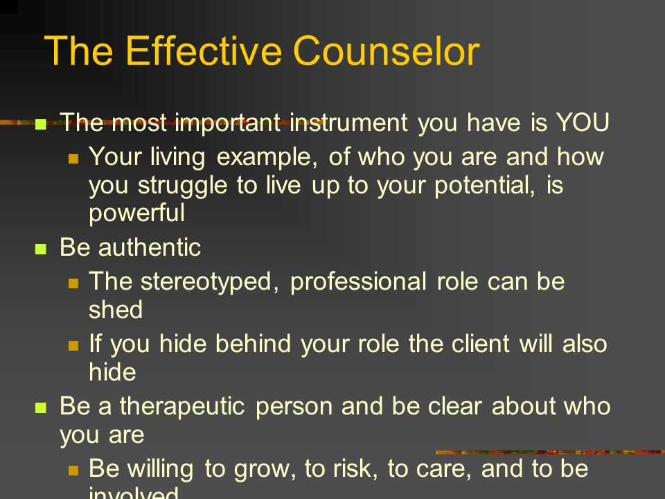 The Effective Counselor