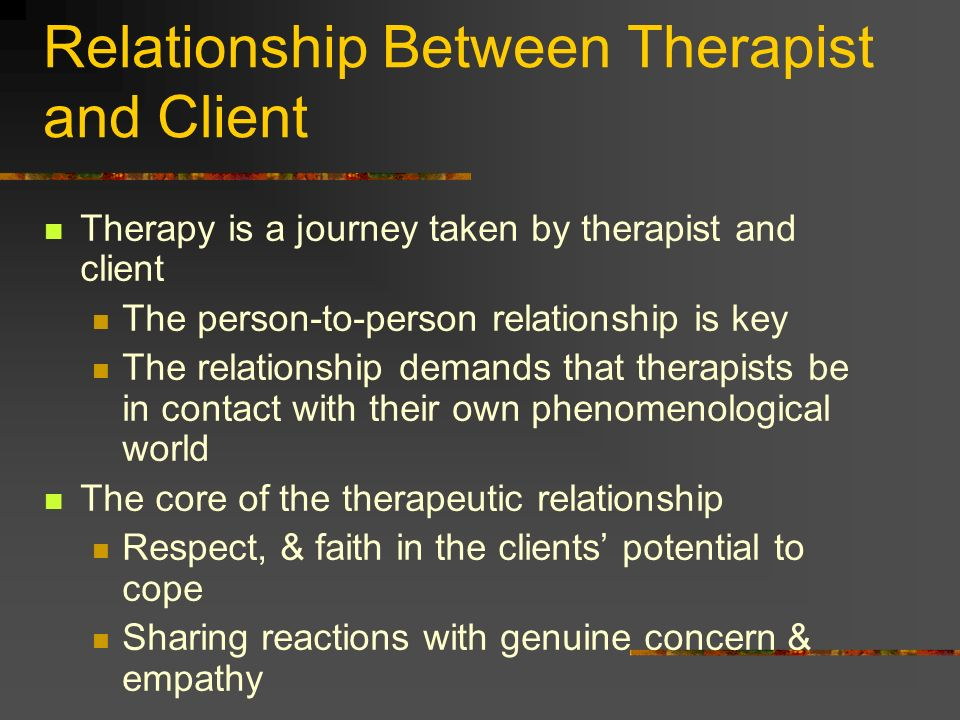 Relationship Between Therapist and Client