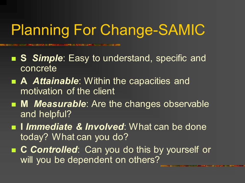 Planning For Change-SAMIC