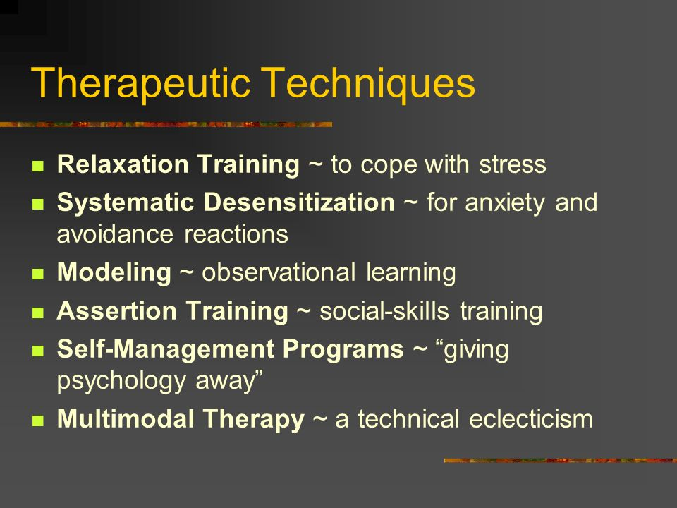 Therapeutic Techniques