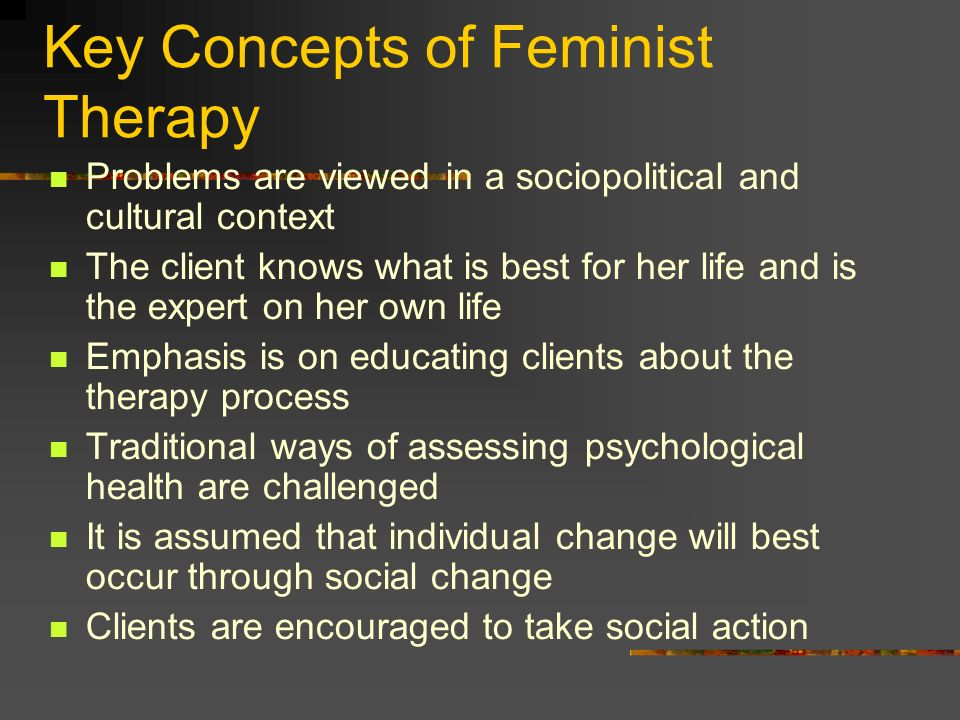 Key Concepts of Feminist Therapy