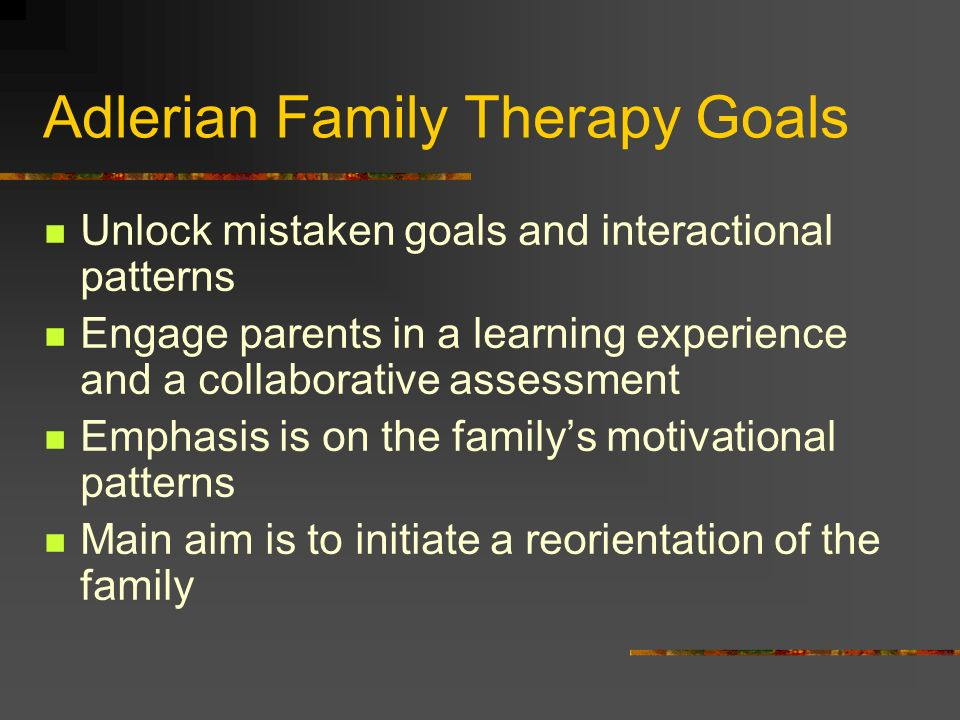 Adlerian Family Therapy Goals