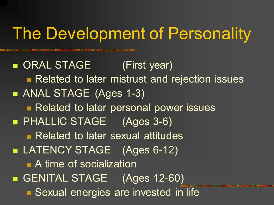 The Development of Personality