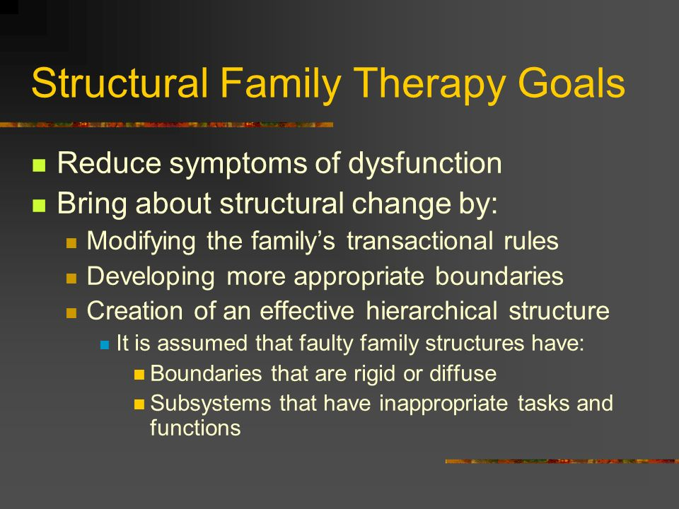 Structural Family Therapy Goals