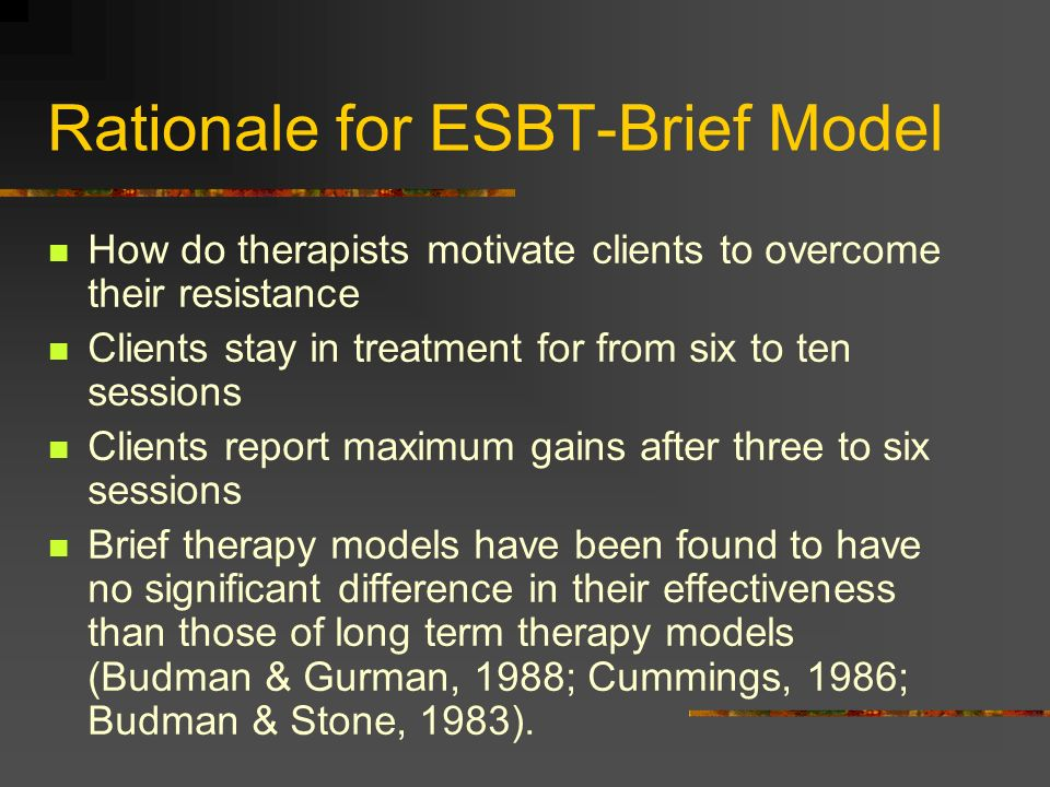 Rationale for ESBT-Brief Model