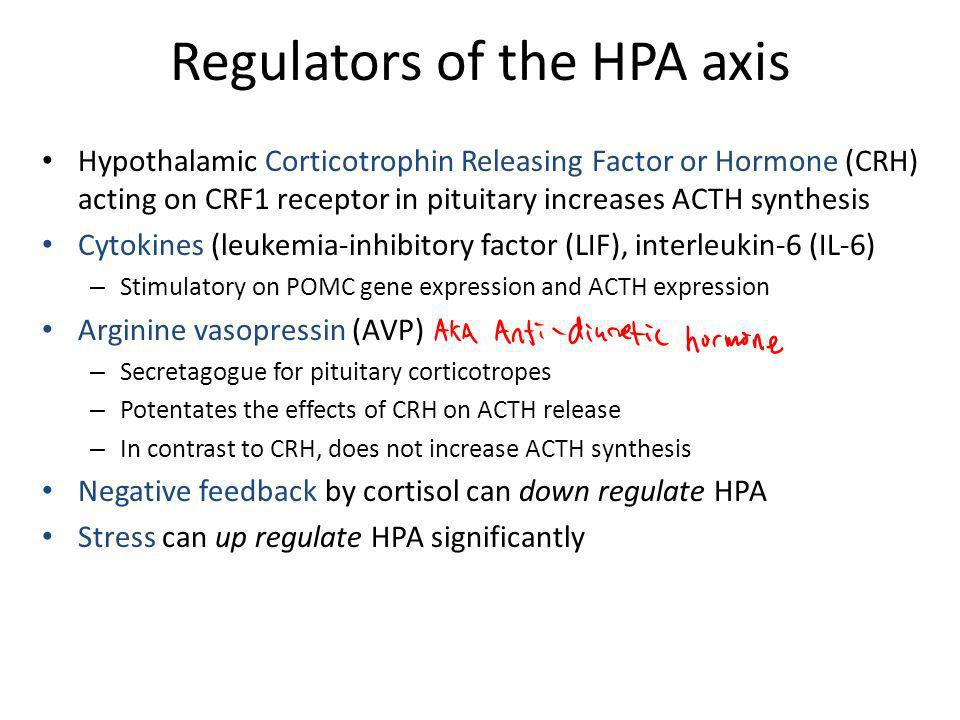 Regulators of the HPA axis