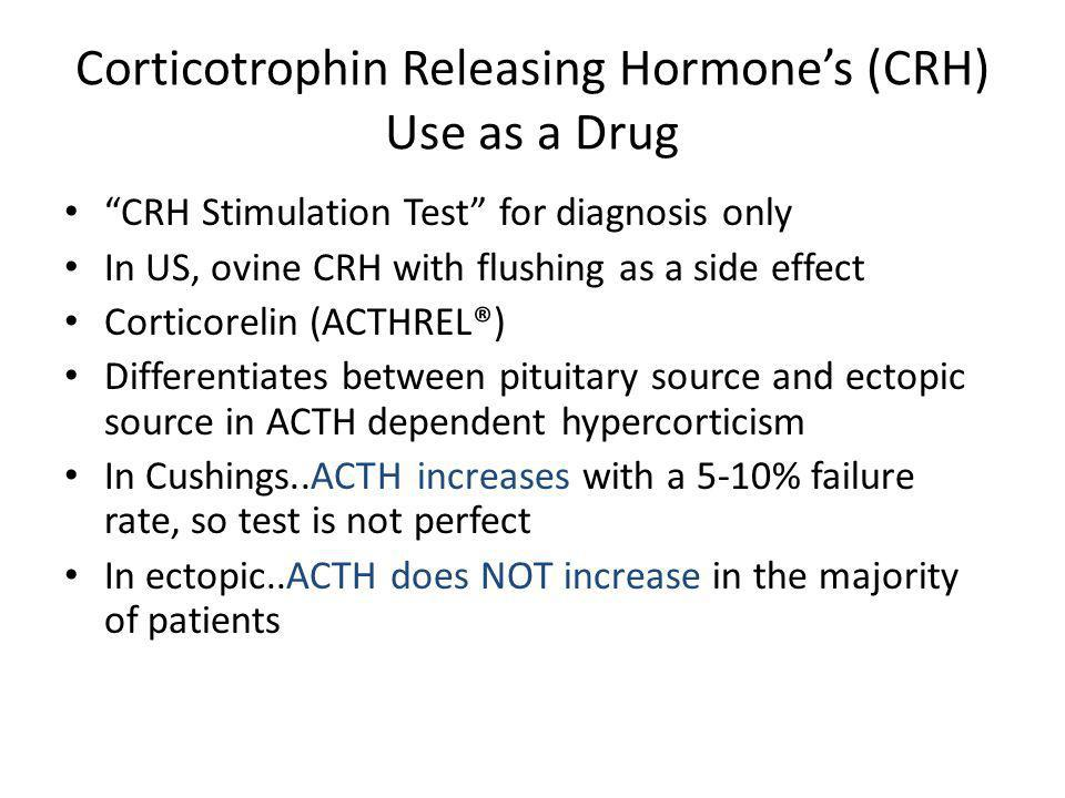 Corticotrophin Releasing Hormone's (CRH) Use as a Drug