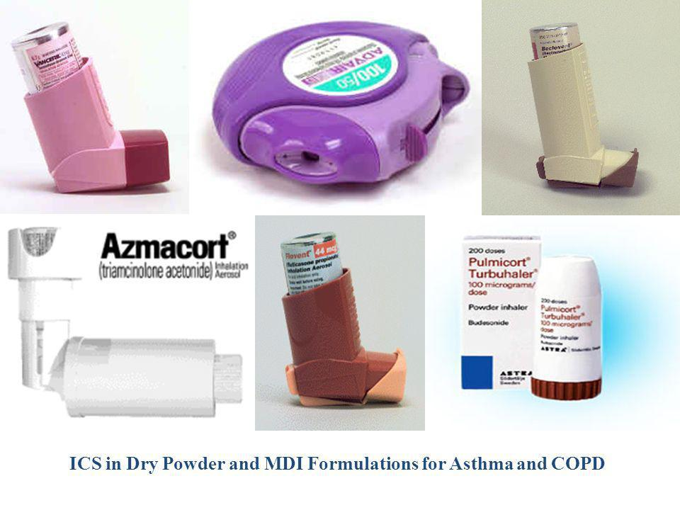 ICS in Dry Powder and MDI Formulations for Asthma and COPD