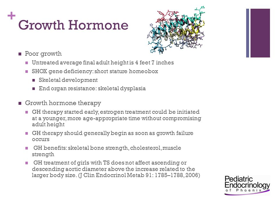 Growth Hormone Poor growth Growth hormone therapy