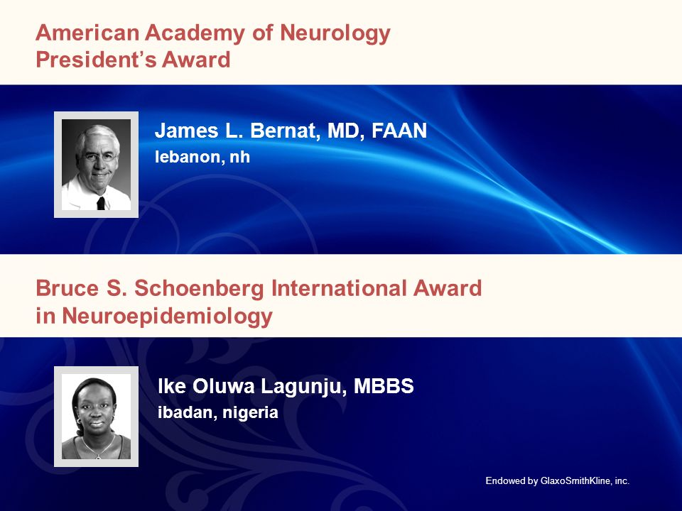 American Academy of Neurology President's Award