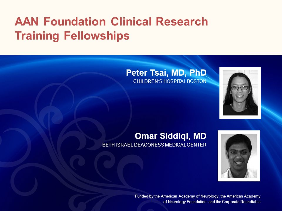 AAN Foundation Clinical Research Training Fellowships