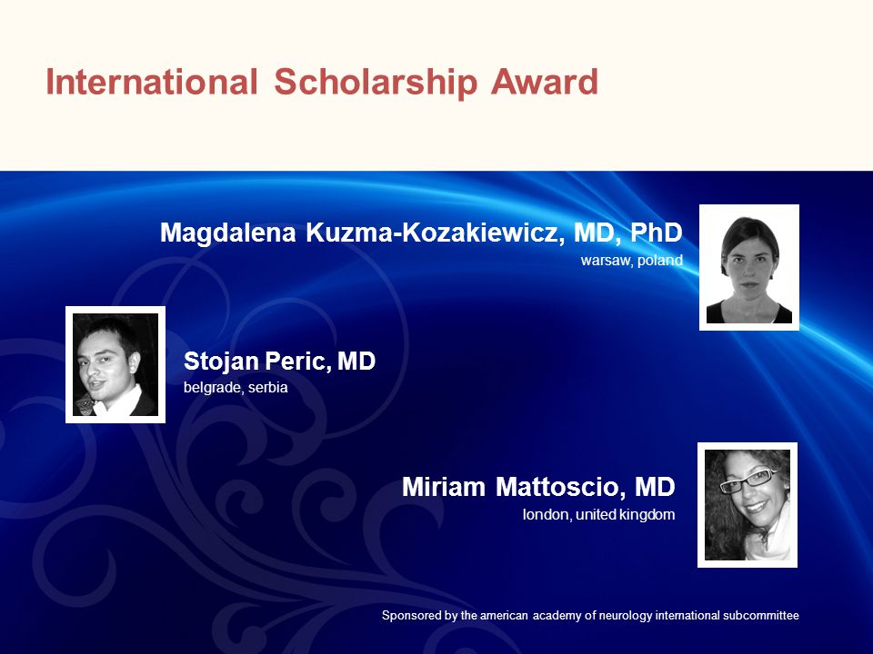 International Scholarship Award