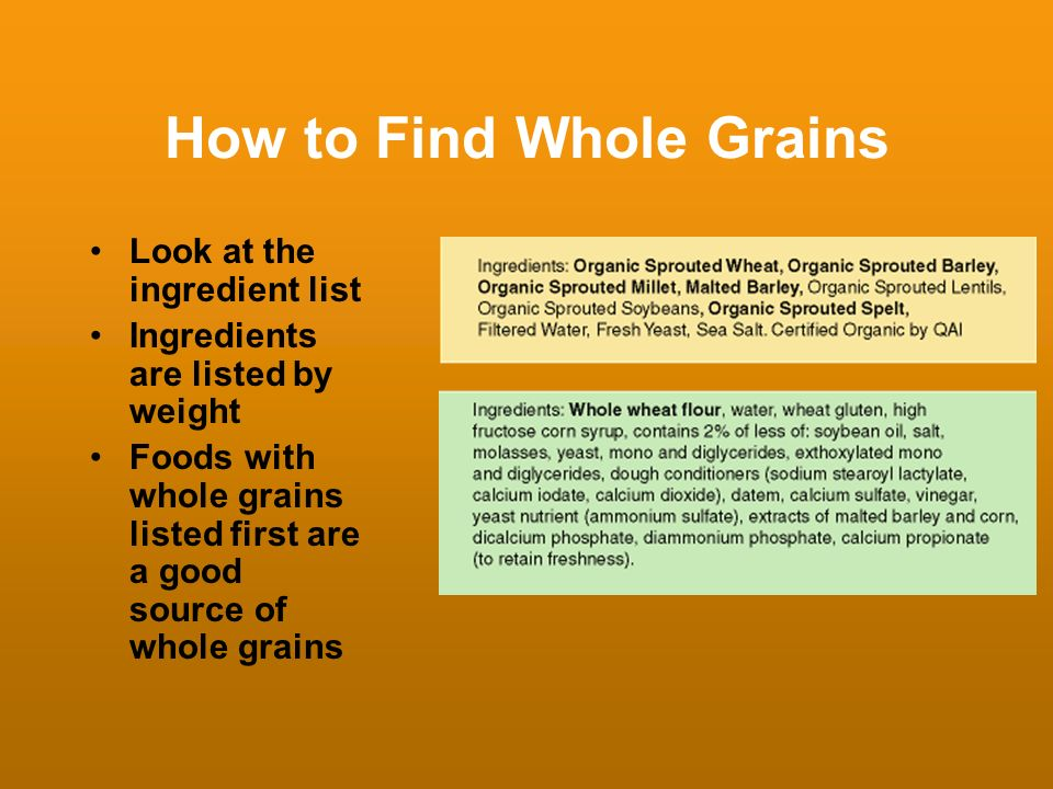 How to Find Whole Grains