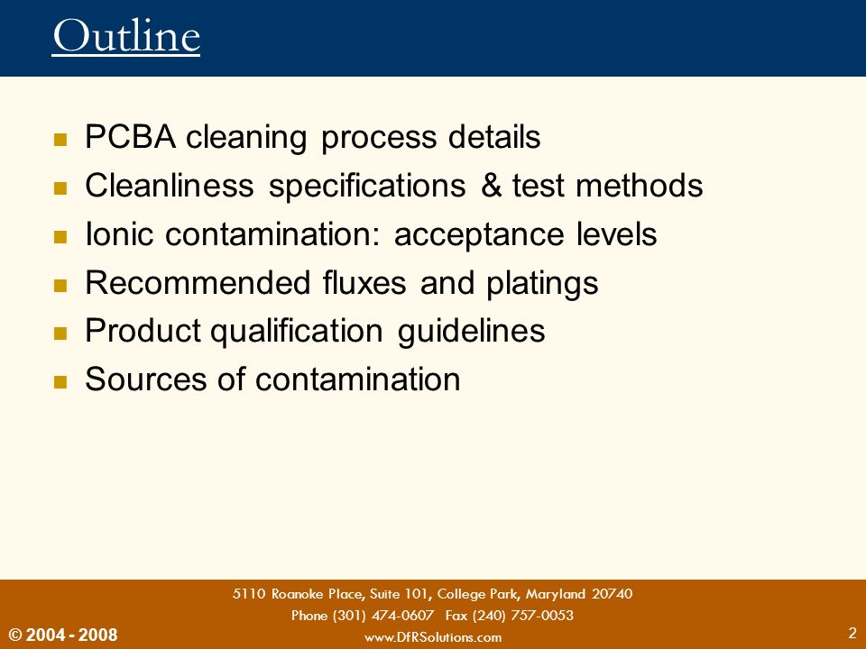 Outline PCBA cleaning process details