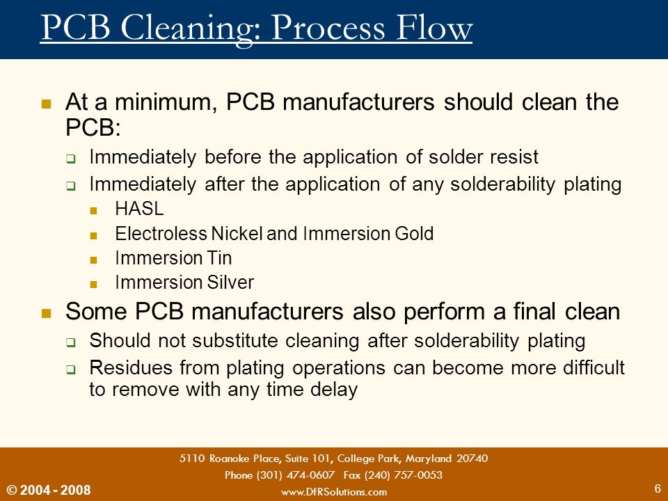 PCB Cleaning: Process Flow