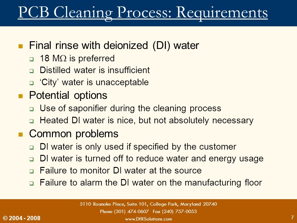 PCB Cleaning Process: Requirements
