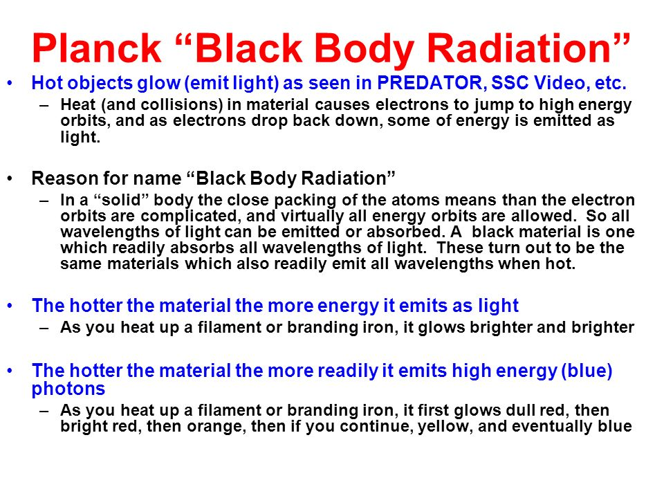 Planck Black Body Radiation