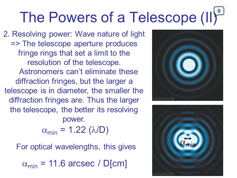 The Powers of a Telescope (II)