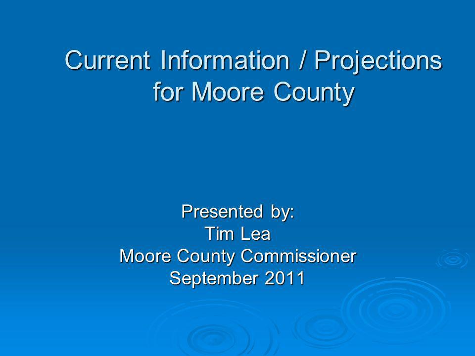 Current Information / Projections for Moore County