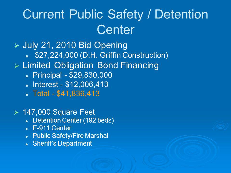 Current Public Safety / Detention Center