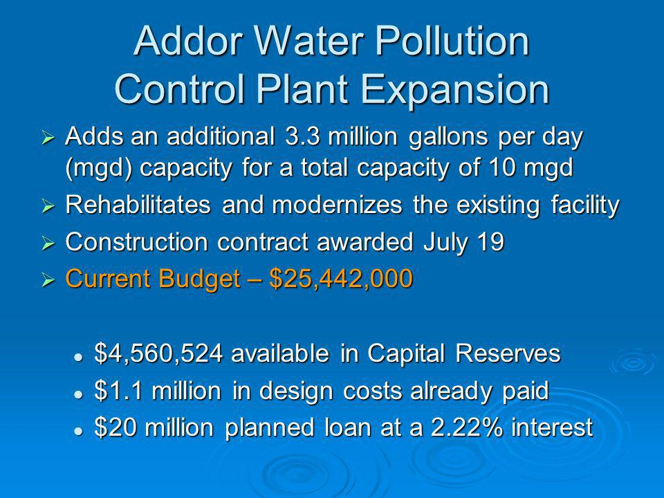 Addor Water Pollution Control Plant Expansion