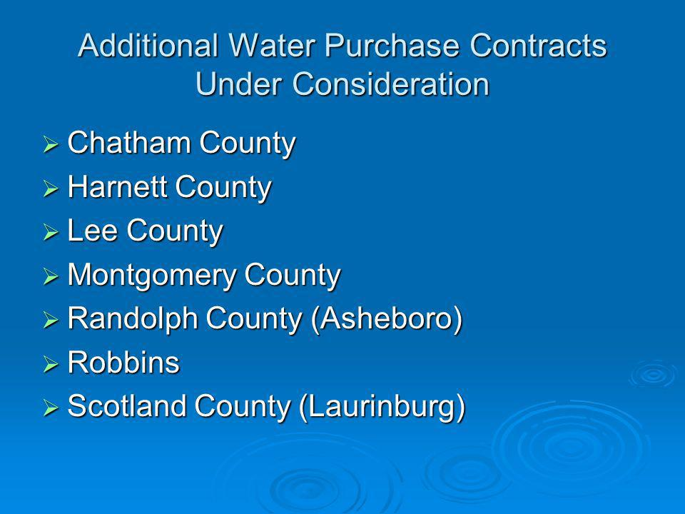 Additional Water Purchase Contracts Under Consideration