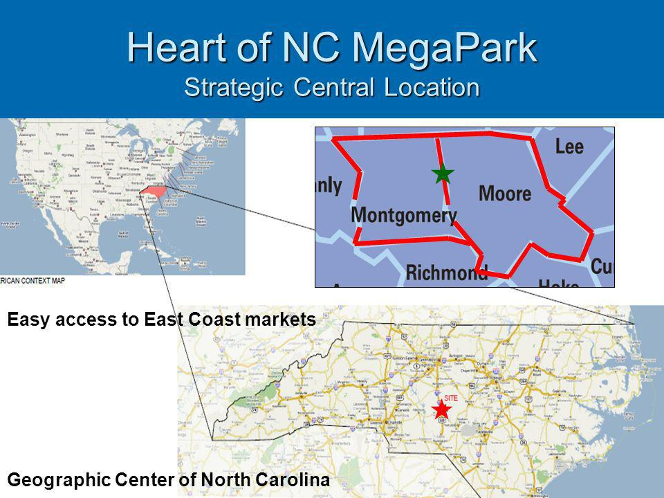 Heart of NC MegaPark Strategic Central Location