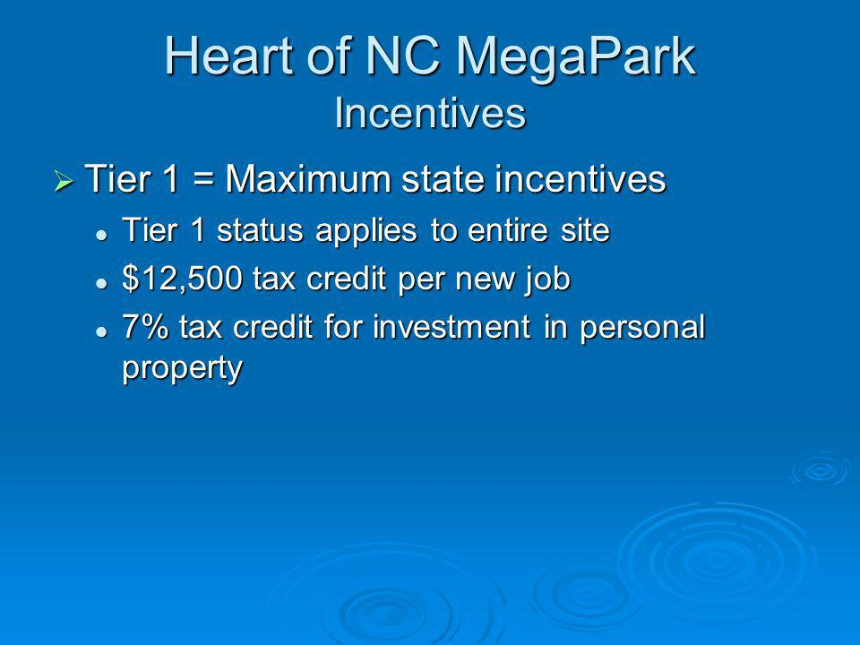 Heart of NC MegaPark Incentives