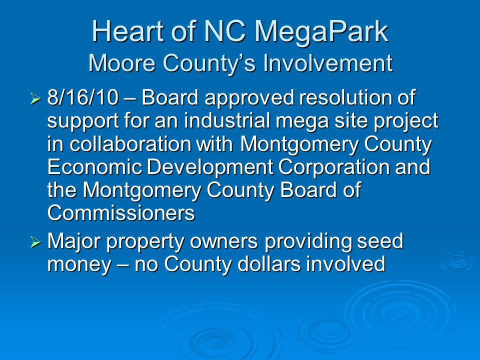 Heart of NC MegaPark Moore County's Involvement