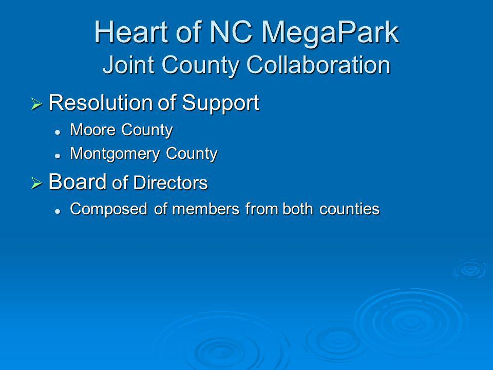 Heart of NC MegaPark Joint County Collaboration