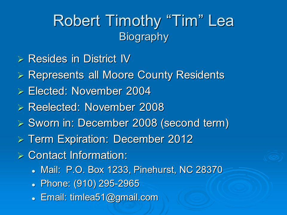 Robert Timothy Tim Lea Biography