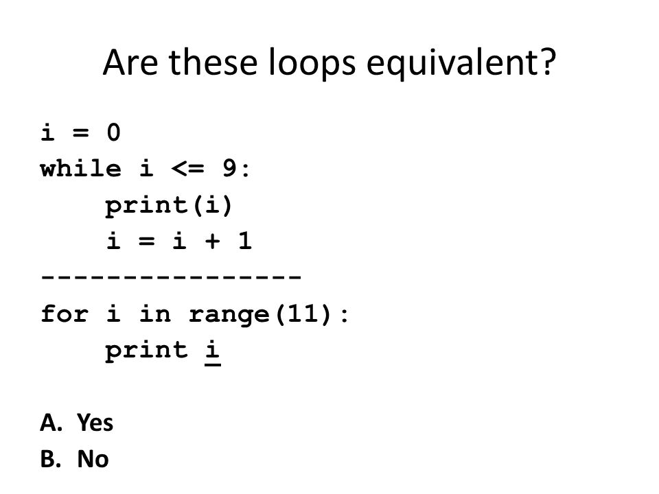 Are these loops equivalent