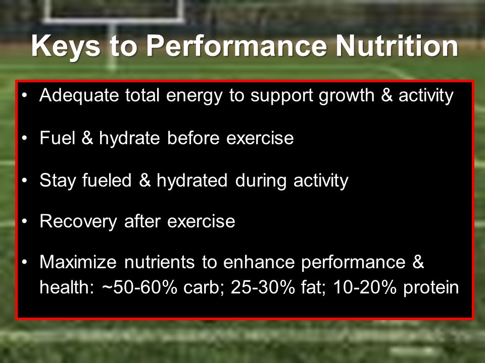Keys to Performance Nutrition