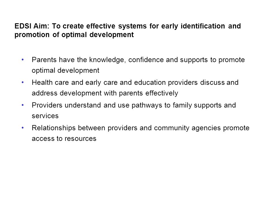 Providers understand and use pathways to family supports and services