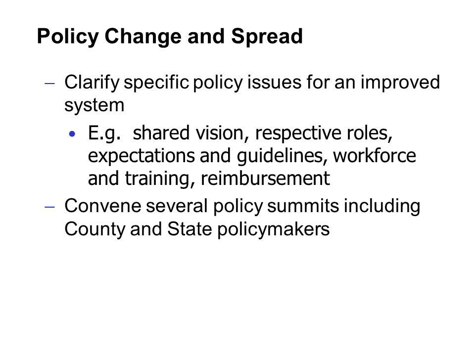 Policy Change and Spread