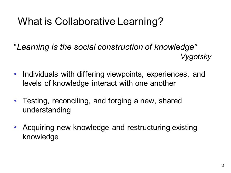 What is Collaborative Learning