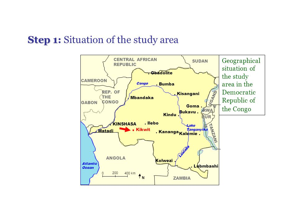Step 1: Situation of the study area