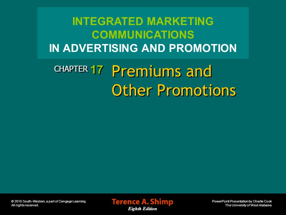 Premiums and Other Promotions