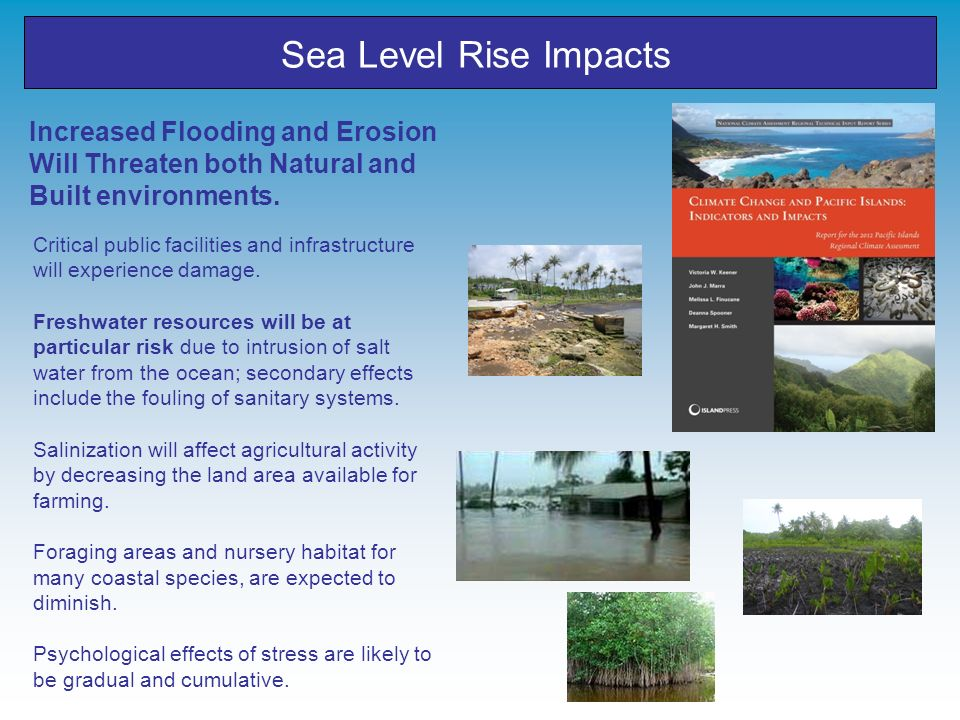 Sea Level Rise Impacts Increased Flooding and Erosion Will Threaten both Natural and Built environments.