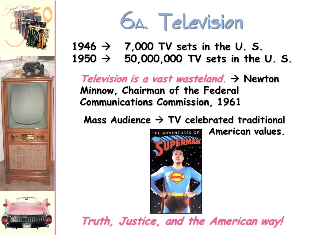 6A. Television Truth, Justice, and the American way!