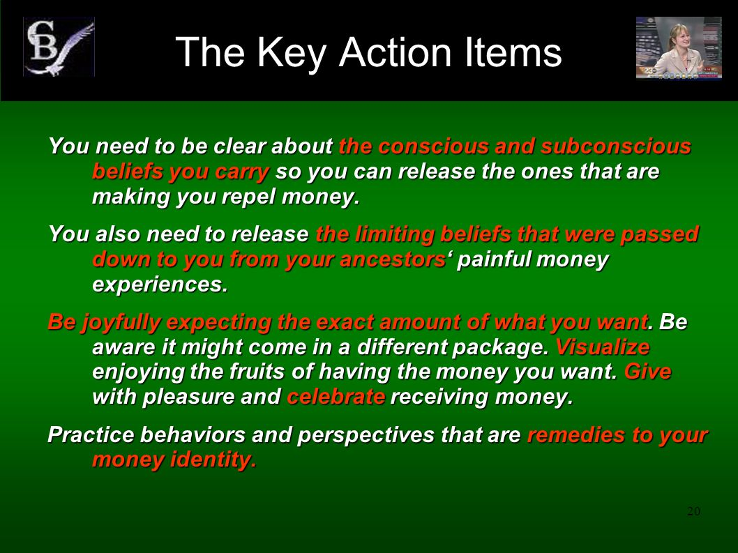 The Key Action Items